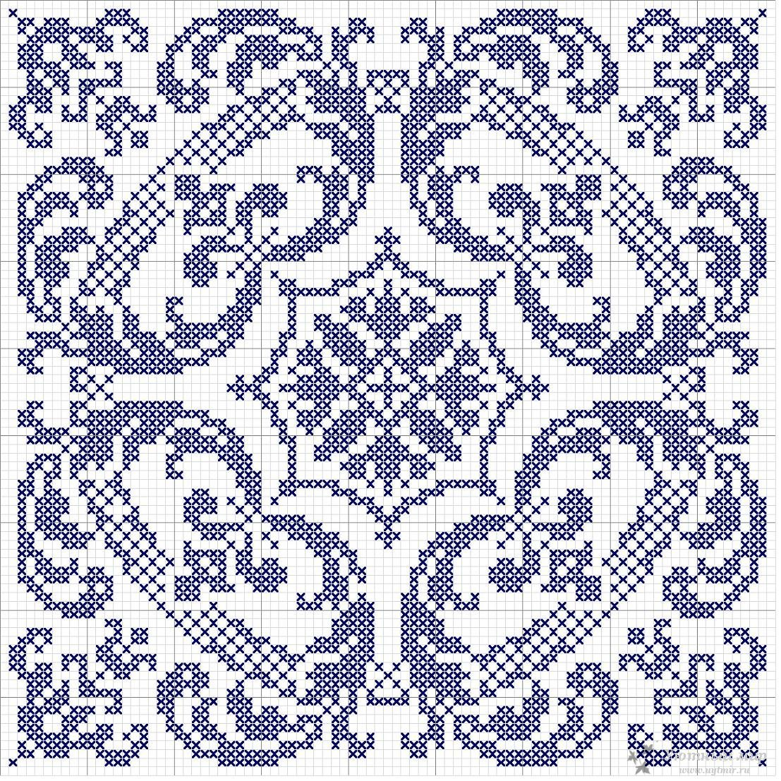 Орнаменты вышивки по вязанию