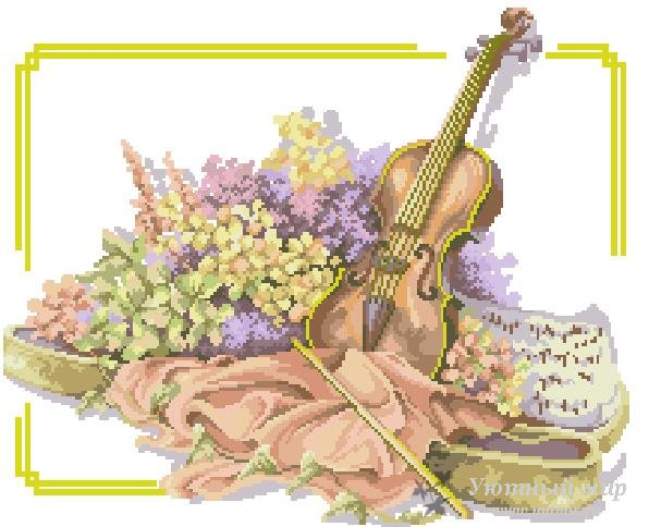схемы вышивки музыкальные