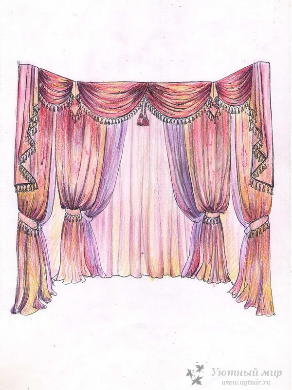 Дизайн проект шторы