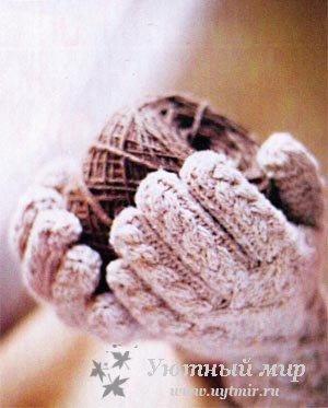 Начало работы узором по схеме Вязать по схеме правой перчатки до 30-го р. 31-й ряд первые 28 п. по.