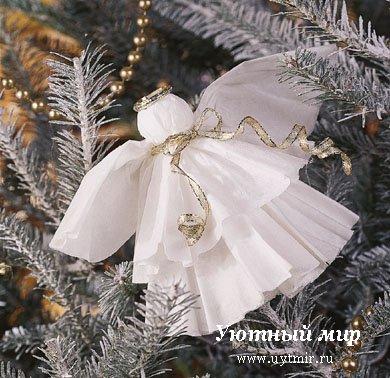 Ангел на новый год своими руками из