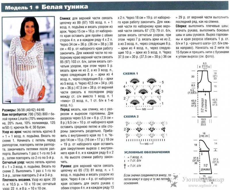 Простые модели и схемы вязания 101