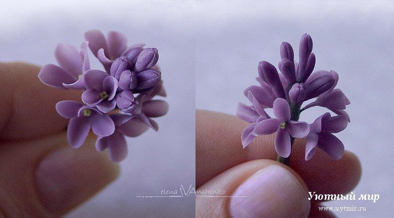 полимерная глина, лепка, фимо, цветы из глины