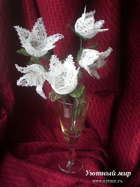 Поделки из ниток своими руками фото цветы