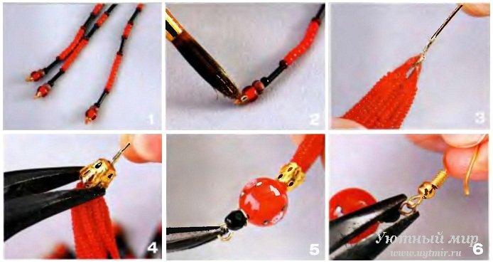 Как сделать кисточки с бусинами - Izhostel.ru