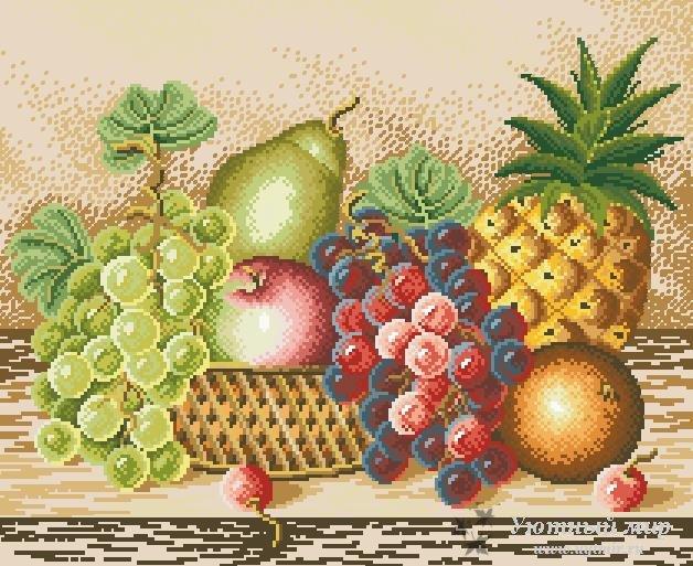 Схема вышивки натюрморт фрукты