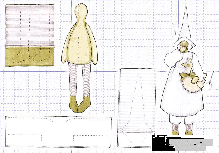 Мягкие куклы выкройки и схемы